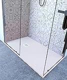 Piatto Doccia 60x100 cm Altezza 2.5 cm Resina Bianco