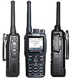 DMR Digital Walkie Talkie Transceiver DM-880 4W UHF 400-480MHz 512 Channels 2-5 Miles Waterproof Dustproof IP54 Handheld Two Way Radio with Large Battery, Black