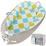 Baby Lounger Baby Nest Sharing Co Sleeping Bassinet - Portable Infant Crib for Bedroom/Travel - Premium Organic Cotton & Bigger Size(0-12months) - Removable & Machine Wash,Hypoallergenic & Breathable