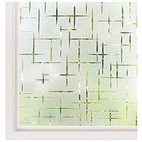 プライバシーと軽い保護のためのウィンドウフィルム3D接着剤ホログラフィックガラスステッカー窓のステッカーガラスフィルム浴室のガレージのドアの取り外し可能,60*200cm