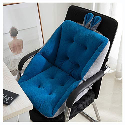Chair Nest Seat Cushions, Soft Plush Sofa Cushion, Lumbar Support Cushion, Car Seat Cushion, Reading Comfort Backrest Cushion, Thick Seat Cushions Fit For Home Office Car,Blue2,45x45cm