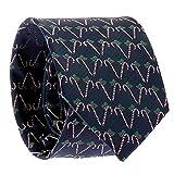 SHIPITNOW Weihnachten Krawatte Jacquard - Zuckerstange Krawatte - Süßigkeiten Krawatte - Heiligabend Krawatte