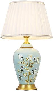 Lampe de Table en céramique Vert Clair Oiseau Arbre élégant et Simple Salon Armoire de Chevet éclairage Lampe de Bureau Ab...