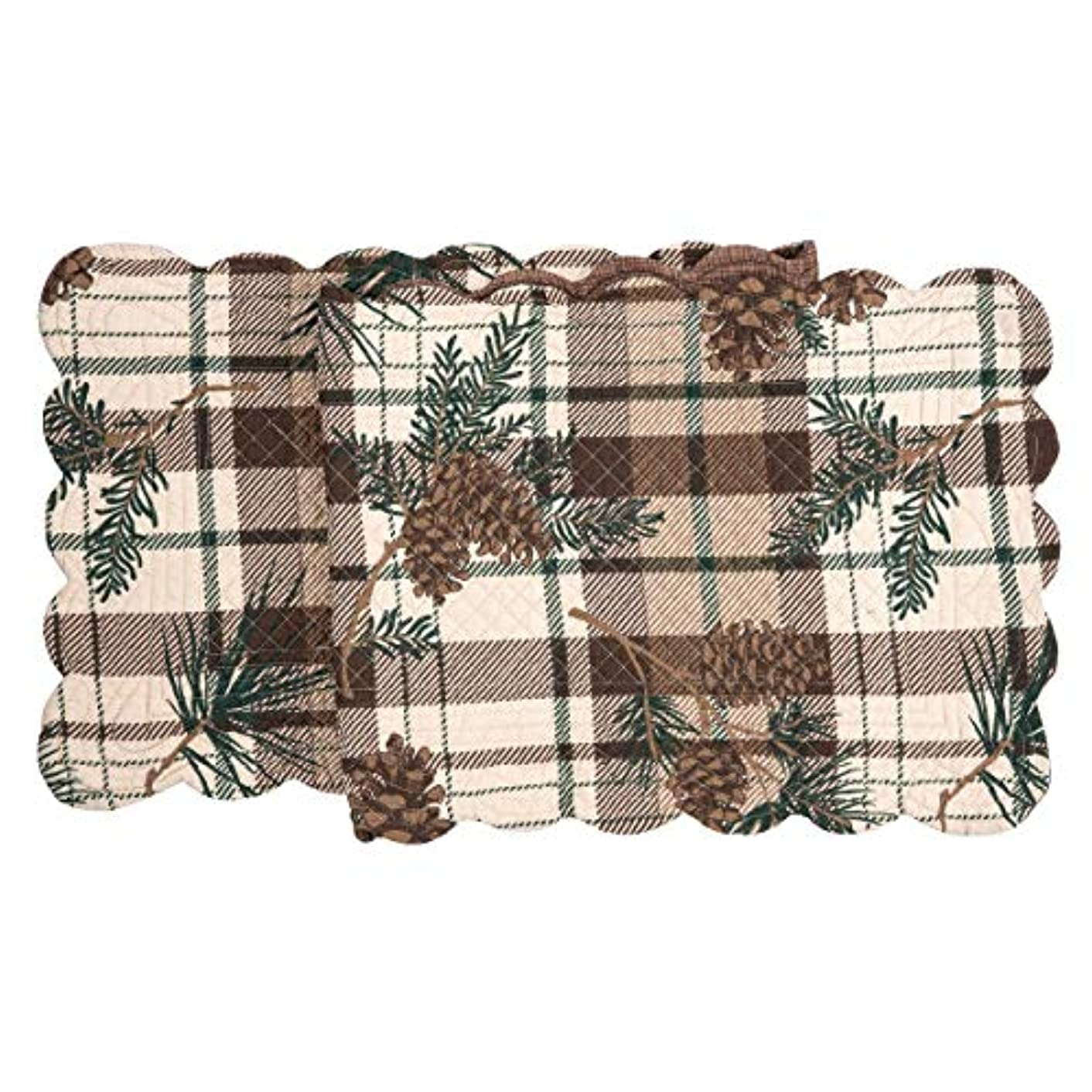 C&F Home Lookout Lodge Cotton Quilted Table Runner 14 x 51 Runner 14x51 Tan