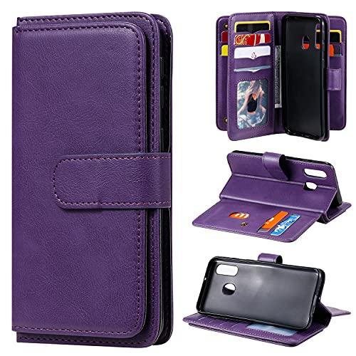 Cubierta de la caja del tirón del teléfono Para Samsung Galaxy A40 Wallet Funda protectora , PU Cáscara protectora de la hebilla magnética de cuero, TPU Caja de la ranura de la tarjeta de la tarjeta d