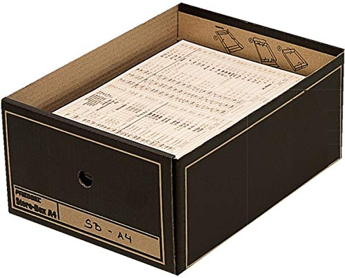 Pressel® Archivbox, Wellpappe, mit Deckel, A4, 35 x 25,5 x 15,5 cm, braun (10 Stück), Sie erhalten 1 Packung á 10 Stück