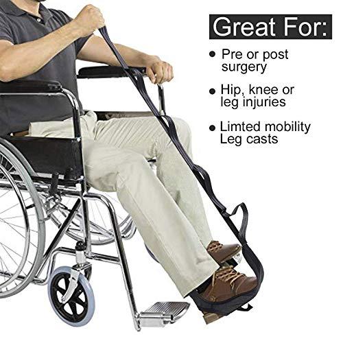 Pro Physio Leg Rehab Therapy Belt. Injury & Post-op Orthopaedic Leg & Foot Pain Relief. Improves Range, Strength & Balance. Plantar Fasciitis, Achilles Tendonitis, Shin Splints, ACL, TKR & THR.
