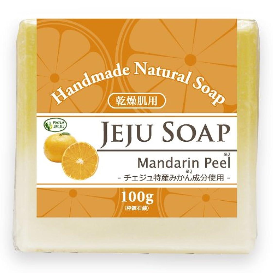 有毒な聡明慎重にチェジュ ミカン石鹸 100g