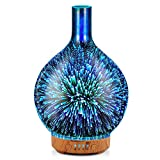 Porseme 3D Essential Oil Diffuser Cool Mist Humidifier Ultrasonic Aromatherapy Diffuser,100ml Last 4h,Auto Shut-Off,Air Refresh,Decoration for Home,Office,Yoga,Baby,Sleep