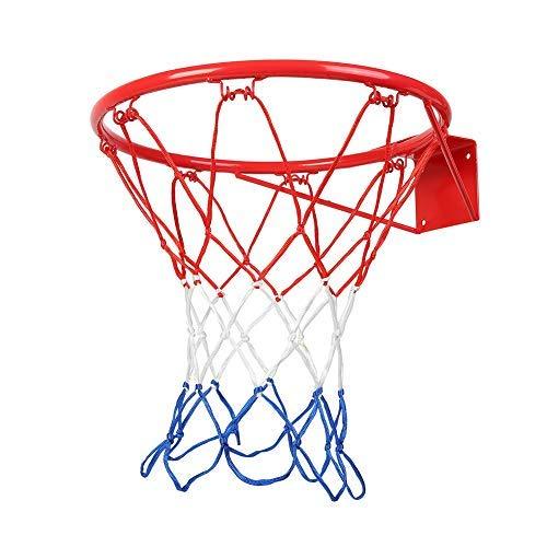 15/18 cala obręcz do koszykówki wytrzymała siatka do koszykówki wymienna do montażu na ścianie bramka do koszykówki z każdą pogodą..