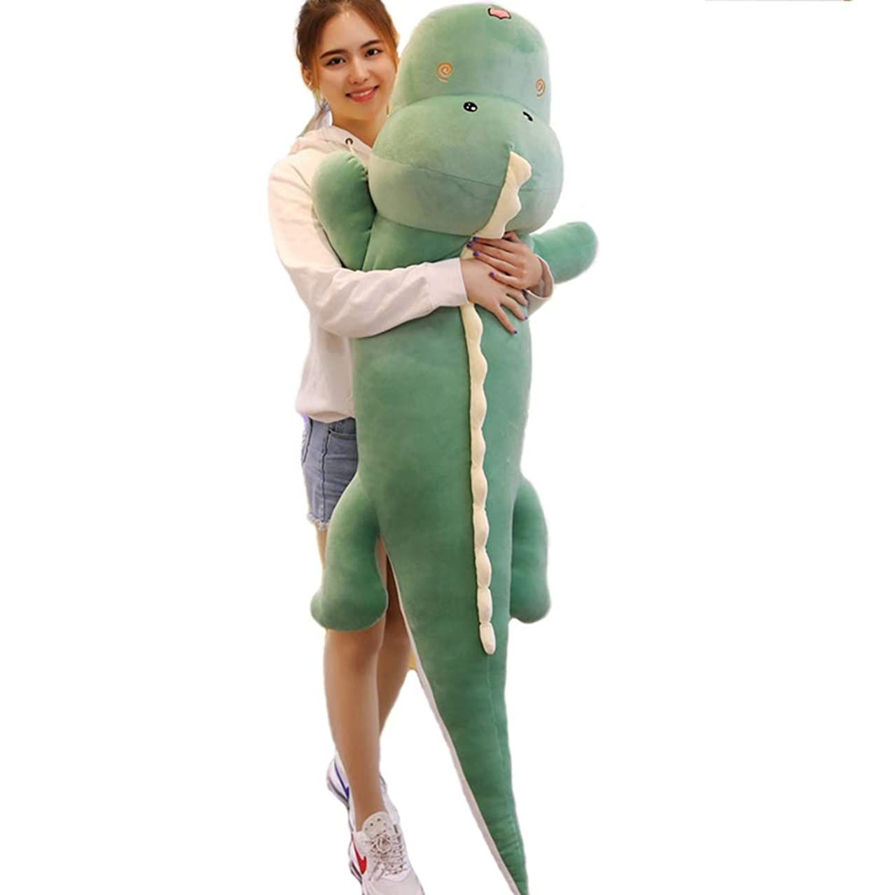 時代遅れアトミック干渉する[Ziv-Nat] 抱き枕 恐竜 ねむねむプレミアム 枕 安眠 人気 抱き枕 ぬいぐるみ ツムツム クッション 椅子 車 かわいい 彼女へ お誕生日 ギフト プレゼント 子供へ ソフトマイヤー ソフト綿 グリーン 150cm