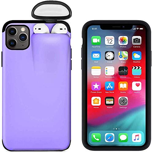 2 in 1 Phone Case for iPhone 8 Plus and for AirPods, Liquid Silicone Gel Rubber Bumper Hard Shockproof Protective Cover for iPhone 8 Plus with Wireless Headphones Headset Set Protection