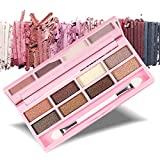 Nanda Eight-colors Eyeshadow Palette Set Crystal Glitter Eye Shadow Sponge Brush Eyes Makeup