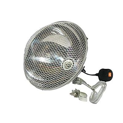 Clamp Lamp Reflector Dome Silver + Grill 200W For Reptile Vivarium from Reptipet