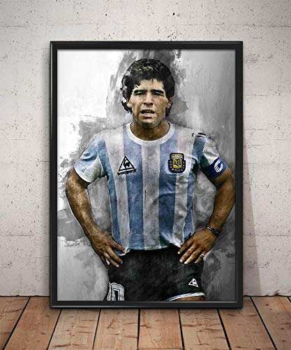 Diego Maradona Poster Poster Maradona Watercolor Art Wall Art Football Wall Poster Home Wall Art Maradona Poster Gifts