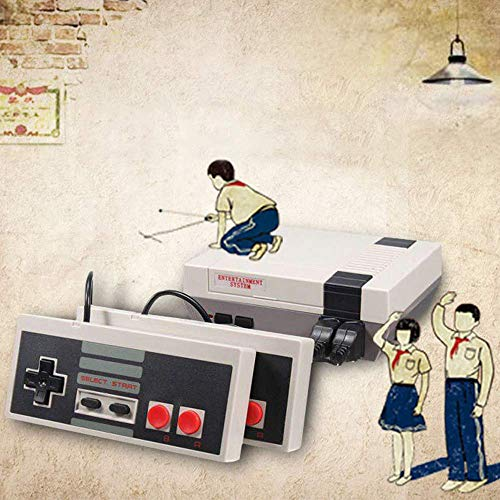 Classic Mini Game Console, Retro Mini Game Console, Retro Mini NES Console, Home TV Game Console Mini NES Retro Video Game Console With AV HD NES Mini Console, Built-In 620 Classic Games for Childre
