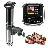 Sous-Vide Roner Cucina a Bassa-Temperatura Slow-Cooker Circolatore-Termico - 1100 Watt IPX7 impermeabile,Controllo preciso della temperatura del chip avanzato,include 10 sacchetti per sottovuoto