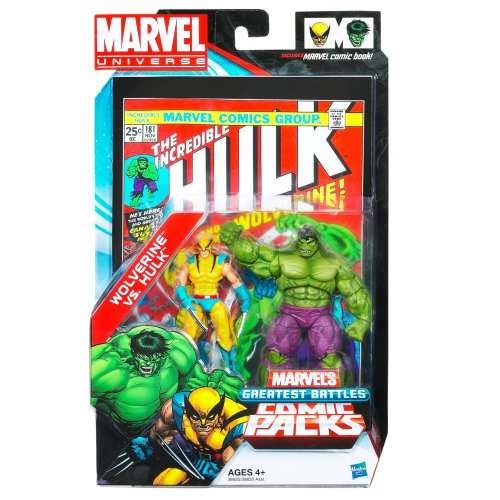 Marvel Universe Greatest Battles Comic Packs Hulk Vs Wolverine