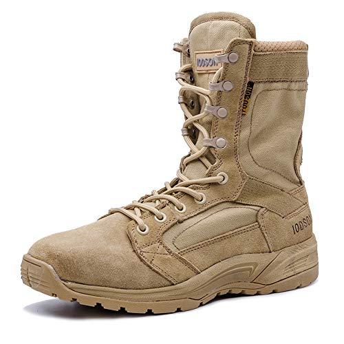 Botas tácticas Militares de Hombre Ultraligero, Tan Botas Jungle Combat, Zapatos de Trabajo y Seguridad