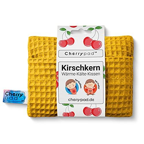Kirschkern Wärme-Kältekissen Cherrypad™ - Wafer Gelb Kirschkernkissen – wohltuendes Wärme- und Kältekissen für Babys und Kleinkinder ab 0+ Monaten – Maße: 16 cm