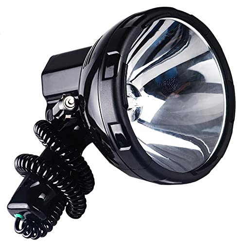 ZGLXZ 220W Xenon Spotlight, Spotlight Handheld Linterna Grande, Reflejo Portátil De Spotlight, Caza 12V Lluvia, Fácil De Llevar