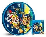 HOVUK Disney Charakter Paw Patrol Here to Help lizenzierte Unisex-Quarz-Wanduhr für Kinder Jungen Mädchen ab 3 Jahren