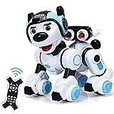 COSTWAY Ferngesteuert Hund Roboter, Roboterhund intelligent, Hundespielzeug programmierbar, Roboter-Spielzeug mit Musikfunktion Tanzt, blinkt, schießt, für Jungen und Mädchen