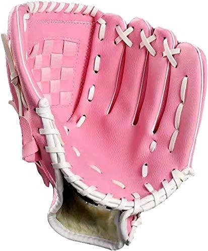 Tengcong Tech Baseball Handschuhe Sport & Outdoor Baseball Glove Batting Handschuhe mit einem Ball Softball Handschuhe für Kinder Erwachsene (Rosa, 10.5)