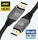 Câble HDMI 4K 5M – Ultra Haut débit 18 Gbps HDMI 2.0b Cord 4K @ 60 Hz Support Fire TV, Ethernet, Retour Audio, vidéo UHD 2160p, HD 1080p, 3D pour Xbox Playstation PS3 PS4 Projecteur – IBRA