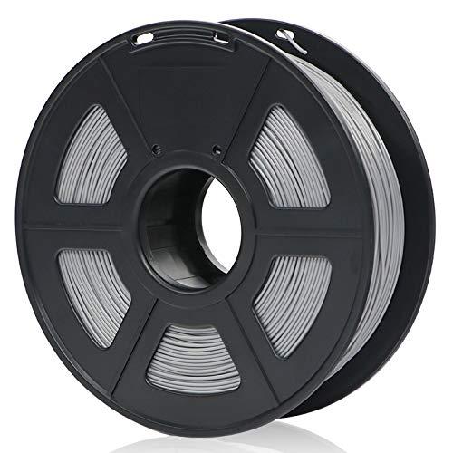 ANYCUBIC PLA 3D Drucker Filament, Toleranz beim Durchmesser liegt bei +/- 0,02mm, 1kg Spule, 1.75mm für 3D-Drucker und 3D-Stifte,Verschiedene Farben (Silber)