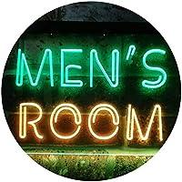 Men's Room Toilet Changing Illuminated Dual Color LED看板 ネオンプレート サイン 標識 緑色 + 黄色 400 x 300mm st6s43-i0629-gy