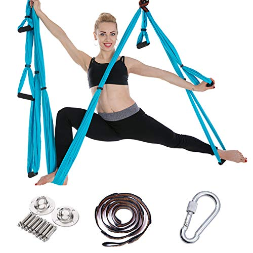 Lowest Price! ZXYSR Aerial Yoga Hammock Home Stretch Hammock Premium Aerial Silk Yoga Swing for Anti...
