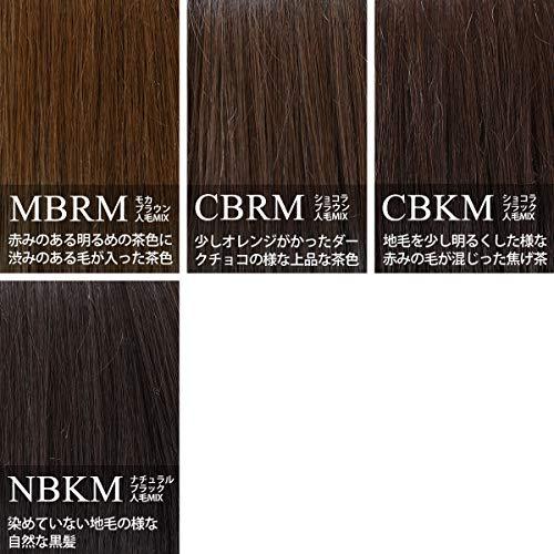 [AQUADOLL(アクアドール)]ウィッグ前髪ウィッグナチュラルフリンジ前髪人毛MIXポイントウィッグフリーサイズCBKM.ショコラブラック人毛MIXpp002CBKM