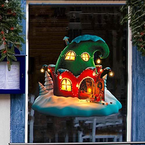 Wandaufkleber Cartoon Feenhut Weihnachtsdekoration Aufkleber