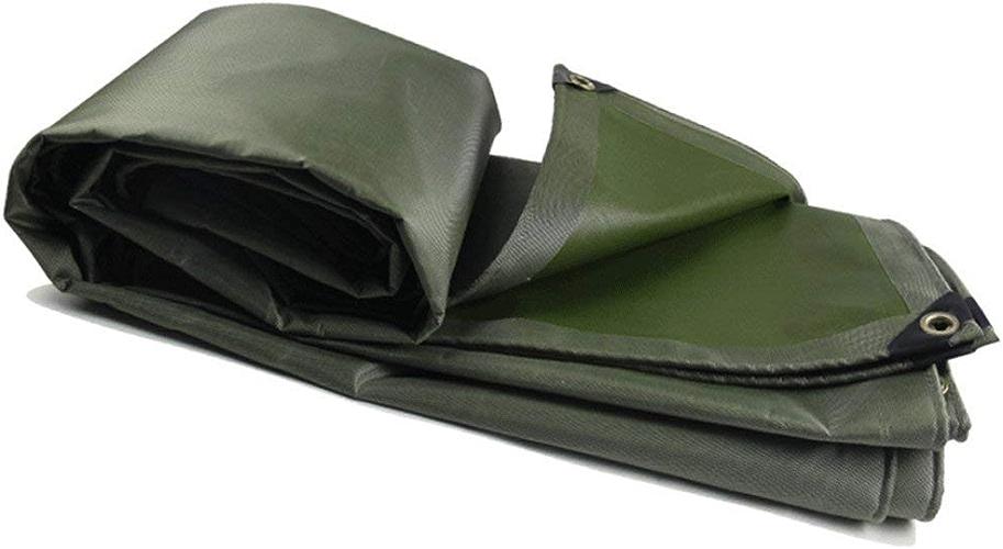 AI LI WEI épaisseur de bache imperméable de bache extérieure de Camion de Camion extérieur de bache imperméable Verte en Toile armée de Tissu imperméable à l'eau de Pluie, 14 Tailles Bache