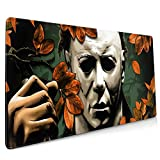 Hallo-ween Non Slip Rubber Mouse Pad for Computers Laptop,Slip Rubber Base RGB Gaming Mouse Pad with Stitched Edge for Office& Home 15.8x35.5 in