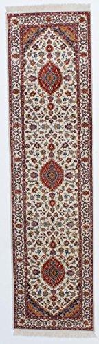 Nain Trading Indo Keshan Royal 301x80 Orientteppich Teppich Beige/Rost Handgeknüpft Indien