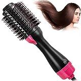 Secador de pelo, cepillo de aire caliente 3 en 1, función de rulos para el pelo, plancha de pelo, para todos los estilos