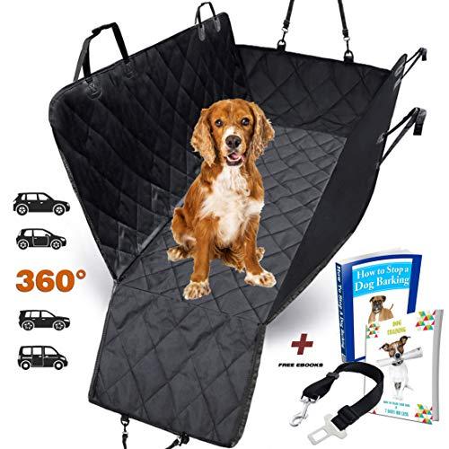 AMZPET Funda Protectora, Lona Impermeable para el Transporte de las Mascotas para el Asiento Trasero del Coche y Duradera, Diferentes Tamaños y Dimensiones