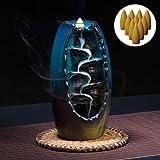 Backflow Incense Burner, Backflow incense Holder with 10PCS Backflow Incense, Bruciatore I...