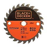 BLACK+DECKER A7525-XJ - Disco para mini sierra circular TCT 85x10mm 24 dientes