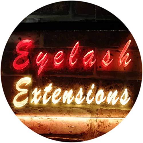 ADVPRO Eyelash Extensions Beauty Salon Shop Dual Color LED Enseigne Lumineuse Neon Sign Rouge et Jaune 600 x 400mm st6s64-i0885-ry