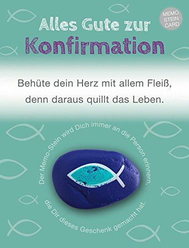 The Art of Stone Memo Stein Card - Alles Gute zu Konfirmat (behüte Dein Herz) - Glücksbringer, Handschmeichler und Talisman - Erinnerungs Stein
