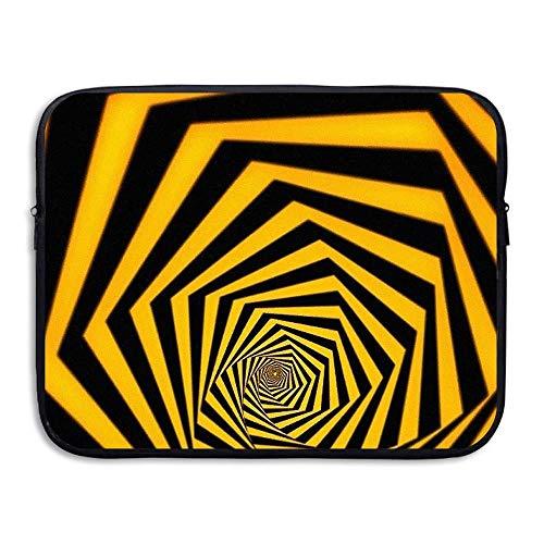 HRFKJYXG Laptop-Hülle Tasche Orange 3D Whirlpool Art Cover Computer Liner Paket Schutzhülle Wasserdichter Computer Tragbare Taschen