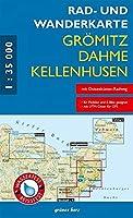 Rad- und Wanderkarte Groemitz, Dahme, Kellenhusen 1:35 000: Massstab 1:35.000. Wasser- und reissfest.