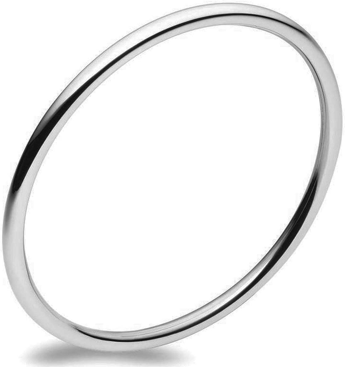 Silverwala 毎日がバーゲンセール Sterling Silver Kada for Men and Women 日本製 2.02