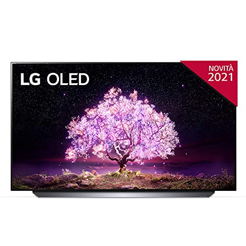 LG OLED55C14LB Smart TV 4K 55 , TV OLED Serie C1 con Dolby Vision IQ, Dolby Atmos, Processore 4K α9 Gen4 con AI, Wi-Fi, AI ThinQ, FILMMAKER MODE, HDR 10 Pro, Google Assistant e Alexa Integrati
