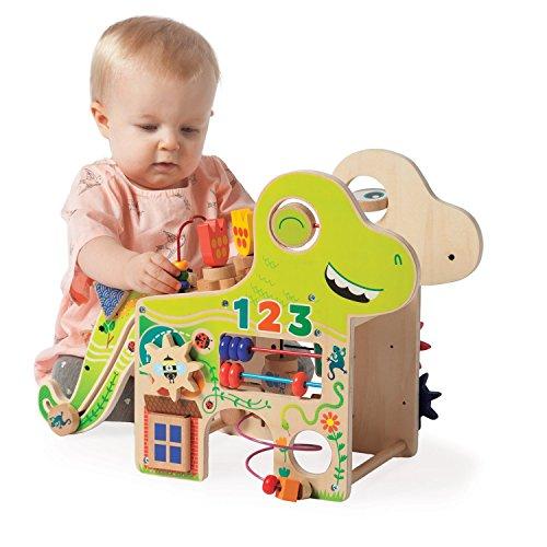 Manhattan Toy Centre d'activités pour Les Tout-Petits en Bois Dino enjoué, 213440, Multicolore