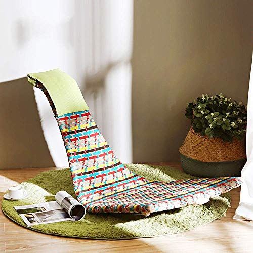 WFFF Mecedora con reposabrazos y Respaldo PE ratán sin Patas de Taburete Silla reclinable Relajante para salón, Patio y terraza