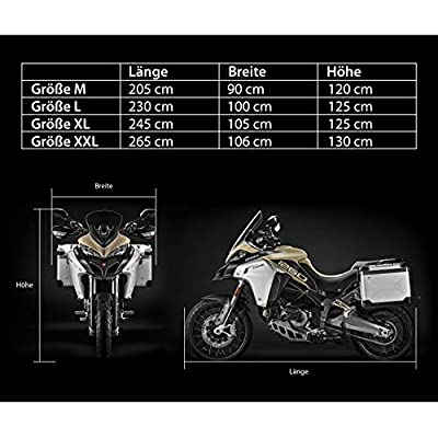 245 x 105 x 125 cm Scooter Cover Motorbike Storage Vespa Cover Heavy Duty Motorbike Cover Waterproof Motorcycle Cover with perfect fit Velmia Motorbike Cover Outdoor /& Indoor -
